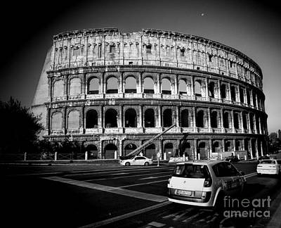 Photograph - Drive By The Coliseum  by Karen Lewis