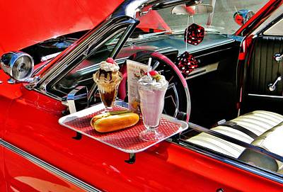 Photograph - Drive-in Diner by Jean Goodwin Brooks