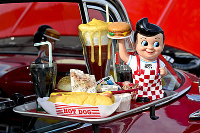 Hot Dogs Photograph - Drive-in Food Classic by Carolyn Marshall