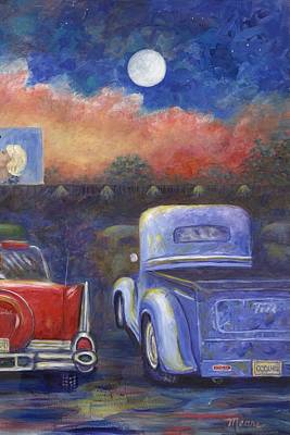 Drive-in Movie Part Two Print by Linda Mears
