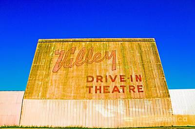 Drive In Theater Photograph - Vintage California Drive-in Theatre by Mel Ashar