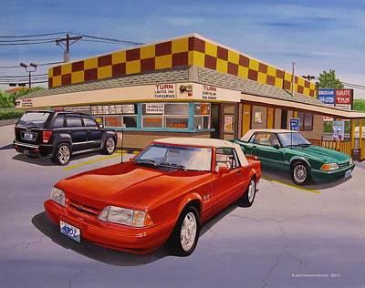 Smithfield Painting - Drive-in Trio by Robert VanNieuwenhuyze