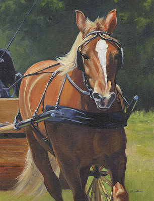 Carriage Driving Painting - Drive On by Alecia Underhill