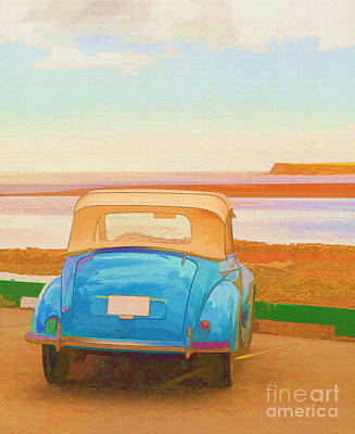 Drive To The Shore Art Print
