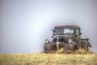 A Rusty Abandoned Truck Near Sturgis South Dakota Art Print