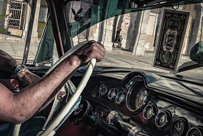 Sidewalk Photograph - Driver by Andreas Bauer