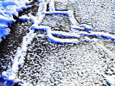 Driveway Frost Art Print by Mike McCool
