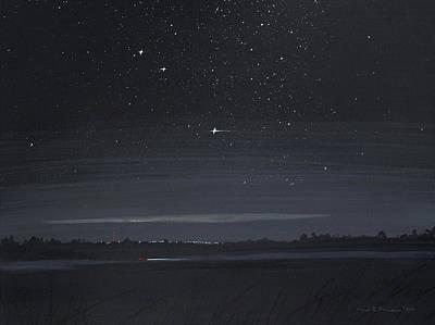 Painting - Driving At Night by Lynn Hansen