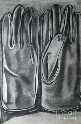 Leather Glove Drawing - Driving Gloves by Cecilia Stevens
