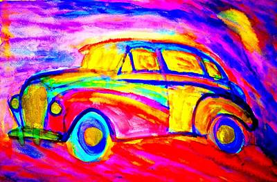 Sweating Painting - Driving Home Late At Night    by Hilde Widerberg