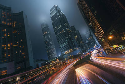 Hong Kong Wall Art - Photograph - Driving Hong Kong by Javier De La