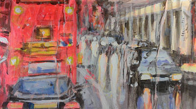 City Painting - Driving In London 2 by Paul Mitchell