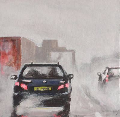 Transport Painting - Driving In The Rain 2 by Paul Mitchell