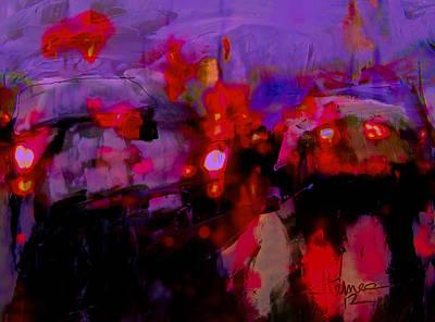 Mixed Media - Driving Rain by Jim Vance