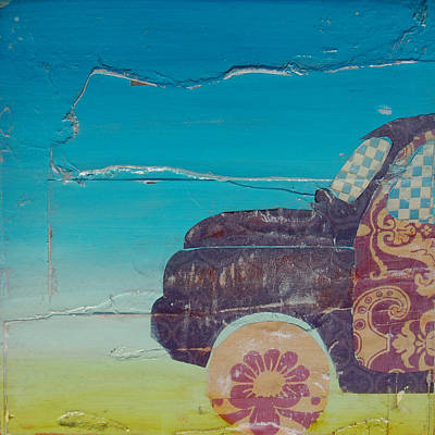 Whimsical Mixed Media Painting - Driving Sound by Danny Phillips