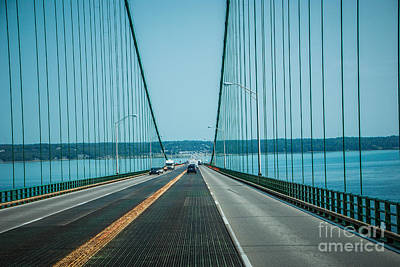 Photograph - Driving The Mackinac Bridge by Grace Grogan