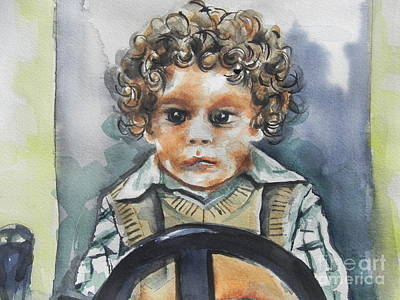 Driving The Taxi Print by Chrisann Ellis