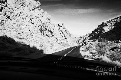 Driving Through Canyons On The White Domes Road Scenic Drive Valley Of Fire State Park Nevada Usa Art Print by Joe Fox