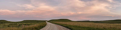 Scott Bean Rights Managed Images - Driving Through the Flint Hills Royalty-Free Image by Scott Bean