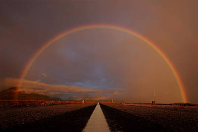 Hofsos Photograph - Driving Through The Rainbow by Jon Hilmarsson