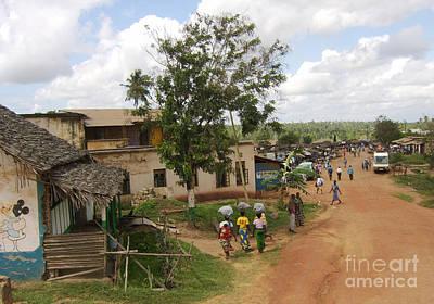 Mombasa Photograph - Driving Through Town - Southern Kenya by Laura Sapko