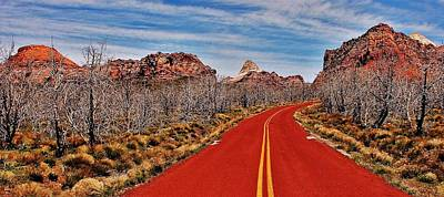 Photograph - Driving Through Zion by Benjamin Yeager