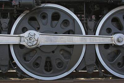 Driving Wheel On Vintage Train Art Print