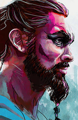 Of Digital Art - Drogo by Jeremy Scott