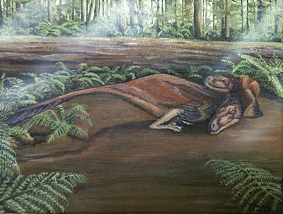 Dromaeosaurus Art Print by Tristan Roberts