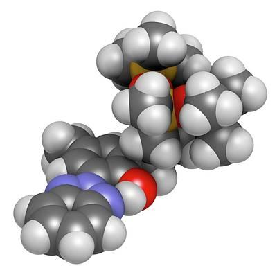 Drometrizole Trisiloxane Molecule Art Print by Molekuul