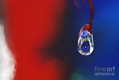 Digital Art - Drop In Time by Lisa Redfern