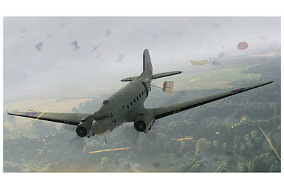 Dc-3 Painting - Drop Zone Victor by Hangar B Productions