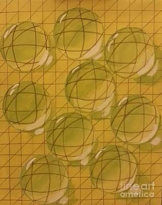 Lemon Drops Painting - Drops Of Lemon by Debra Acevedo