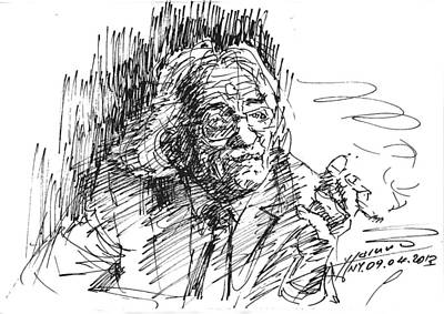 Writer Drawing - Drtero Agolli Albanian Writer by Ylli Haruni
