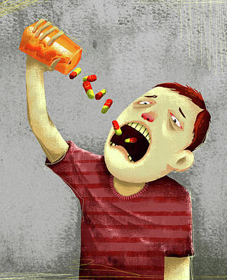 Drug Abuse Art Print by Fanatic Studio / Science Photo Library