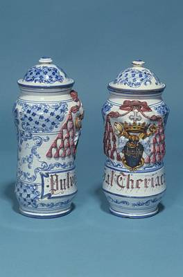 Apothecaries Photograph - Drug Jars by Science Photo Library