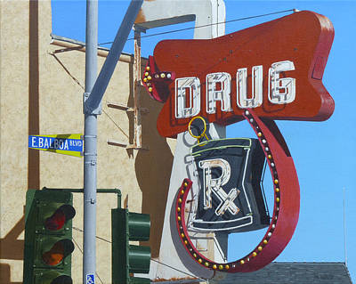 Stucco Painting - Drug by Michael Ward