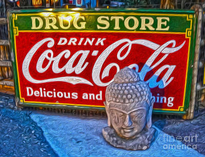 Drug Store Buddha Art Print by Gregory Dyer