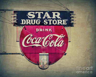 Photograph - Drug Store Neon by Perry Webster