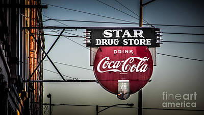 Coca-cola Signs Photograph - Drug Store by Perry Webster