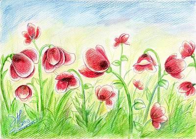 Drugged Flowers Art Print