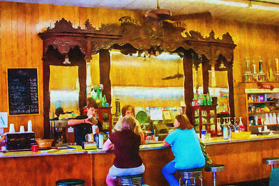 Photograph - Drugstore Soda Fountain - Impressionism by Barry Jones