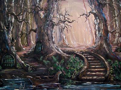 Art Print featuring the painting Druid Walk by Megan Walsh