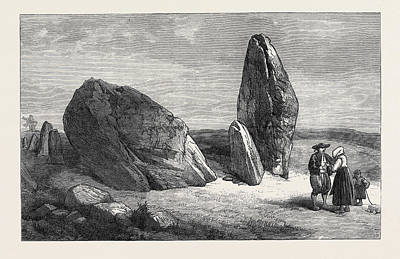 Druidic Remains Of Brittany Stones Of St Art Print by French School