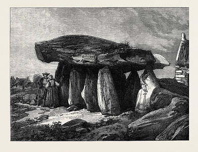 Druidic Remains Of Brittany The Great Dolmen Of Corconne Art Print by French School