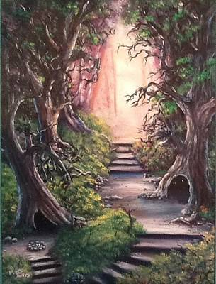 Art Print featuring the painting Druid's Walk by Megan Walsh