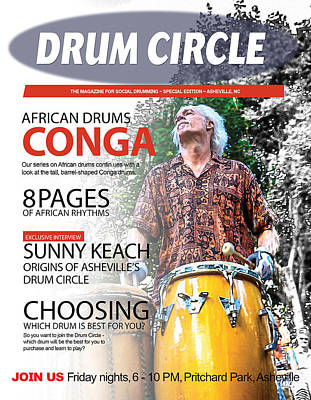Digital Art - Drum Circle Magazine by John Haldane