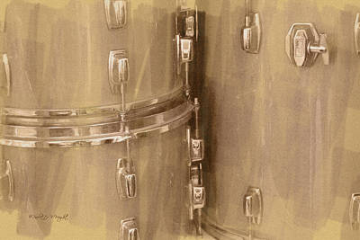 Digital Art - Drum Fittings by Paulette B Wright