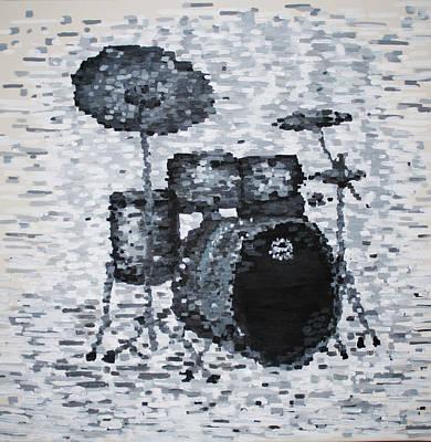 Drum Kit Painting - Drum Kit by Bridget Brummel