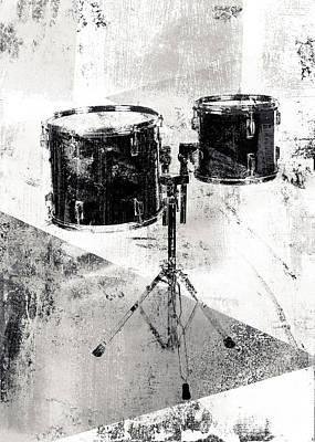 Drum Kit Digital Art - Drum Kit by David Ridley